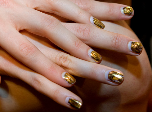Beauty Maverick: Trend to Watch: Grown-Out Guilded Nails